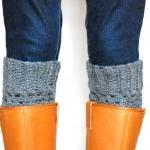 Charcoal Heather Boot Cuffs - Croch..