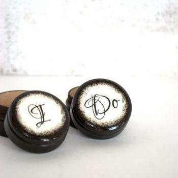 I Do - Set 0f 2 - Wedding Ring Box - Customize